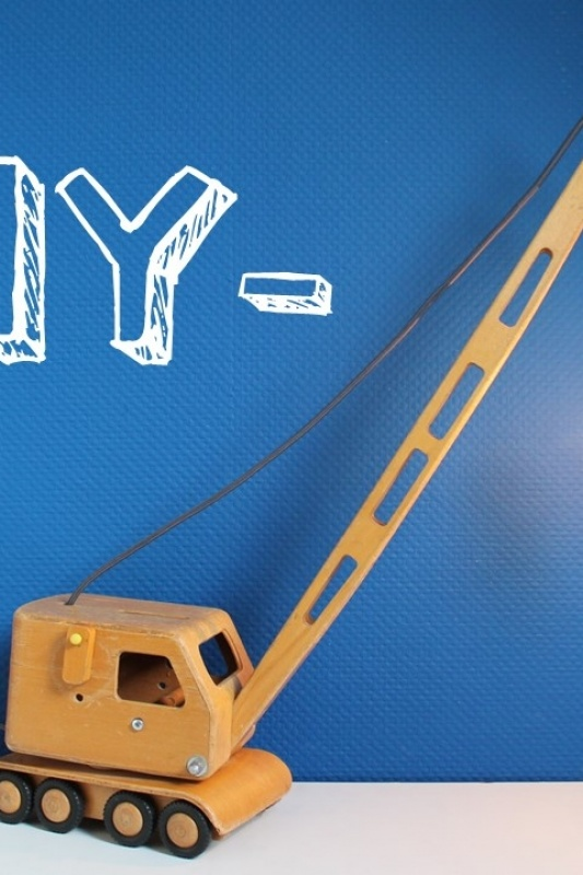 -DIY- Hijskraanlamp