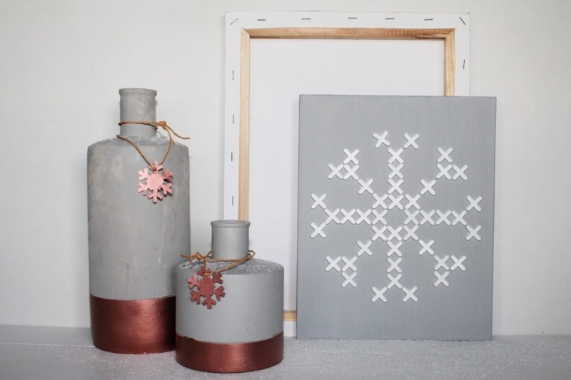 -DIY- schilderijtje met tegelkruisjes